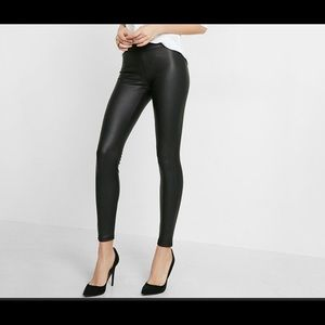 Black Express faux leather leggings NWT